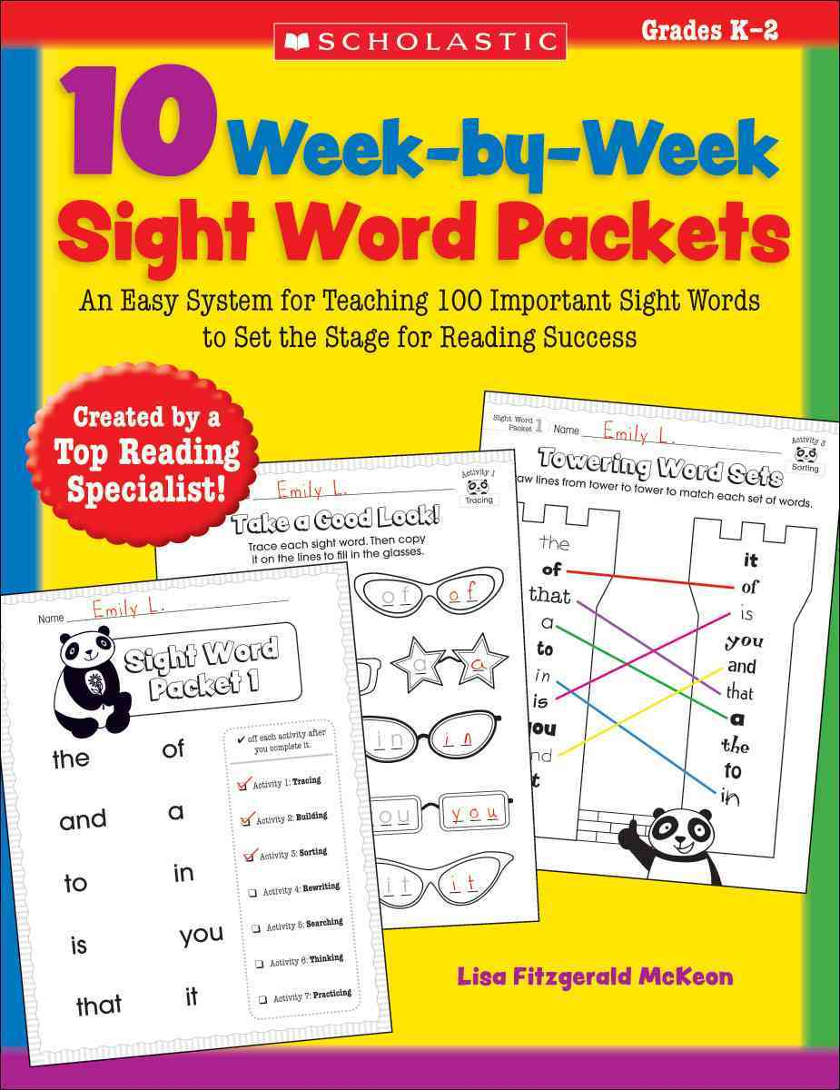 10 Week-By-Week Sight Word Packets By McKeon, Lisa Fitzgerald